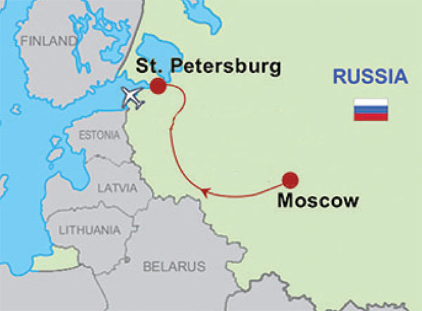 Moscow & St.Petersburg escorted